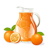 Dzbanek sok pomarańczowy Obraz Stock