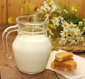 dzbanka mleko Zdjęcie Royalty Free