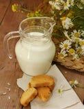 dzbanka mleko Zdjęcia Royalty Free