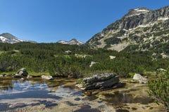 Dzhangal peak and Banski lakes, Pirin Mountain Stock Images