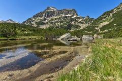 Dzhangal peak and Banski lakes, Pirin Mountain Royalty Free Stock Photos