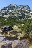 Dzhangal peak and Banski lakes, Pirin Mountain Stock Photos