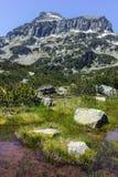Dzhangal peak and Banski lakes, Pirin Mountain Royalty Free Stock Photography