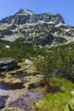 Dzhangal peak and Banski lakes, Pirin Mountain Royalty Free Stock Image