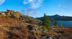 Dzhasybay lake. National Park Bayanaul. Kazakhstan Royalty Free Stock Images