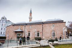 Dzhumayamoskee in Plovdiv, Bulgarije royalty-vrije stock afbeelding
