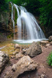 Dzhur- waterfall on the river East Ulu-Uzen Royalty Free Stock Images