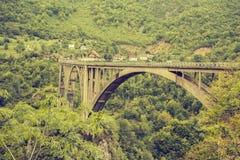 Dzhurdzhievichbrug Montenegro Stock Afbeeldingen