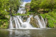 Dzhurin瀑布,在Chervonograd附近在乌克兰 库存照片