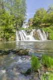 Dzhurin瀑布,在Chervonograd附近在乌克兰 免版税库存照片