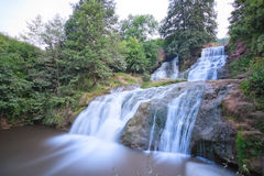 Dzhurinsky waterfall in the summer. Stock Photography