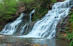 Dzhurynskyi waterfall, Ukraine. Royalty Free Stock Images