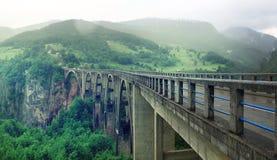 Dzhurzhevicha Μαυροβούνιο γεφυρών Στοκ φωτογραφίες με δικαίωμα ελεύθερης χρήσης