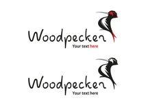 Dzięcioła Ptasi logo - natura i zwierzęta Obraz Stock