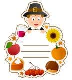 Dziękczynienia Chłopiec Książki Pokrywa Zdjęcie Stock