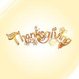 Dziękczynienia literowania projekt z ręka rysującą szorstkiego nakreślenia inskrypcją Fotografia Royalty Free