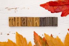 Dziękczynienia O temacie tło z typ Ustalony literowanie Obraz Stock
