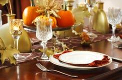 Dziękczynienia stołowy położenie Obrazy Royalty Free