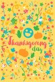 Dziękczynienie dnia świętowania sztandar Zdjęcia Stock