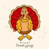 Dziękczynienie dnia świętowanie z indyczym ptakiem Zdjęcie Royalty Free