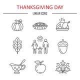 Dziękczynienie dnia ikony ilustracji