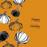 Dziękczynienie dzień lub Szczęśliwa Halloween karta z banią Zdjęcia Royalty Free