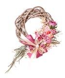 Dziękczynienie kolorowy dekoracyjny wianek dla drzwi z kwiatami odizolowywającymi Obraz Stock