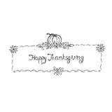 Dziękczynienie, nakreślenie, ręka rysunek, wektor, ilustracja Obraz Royalty Free