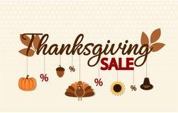 Dziękczynienie sprzedaży tło lub karta Obraz Stock