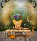 Dziękczynienie stół Obraz Royalty Free
