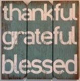 Dziękczynny wdzięczny błogosławiony Fotografia Royalty Free
