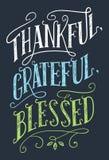 Dziękczynny, wdzięczny, błogosławiony domowy wystroju znak, royalty ilustracja