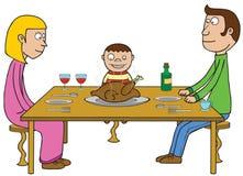 Dzięki Dają jedzeniu ilustracji