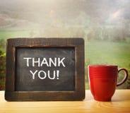 Dziękuje Ciebie! fotografia stock