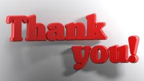 Dziękuje ciebie! biały 3D - 3D rendering Zdjęcia Royalty Free