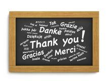 Dziękuje Ciebie Chalkboard pojęcie Obraz Royalty Free