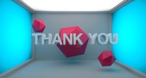 Dziękuje Ciebie 3D tekst Zdjęcia Stock
