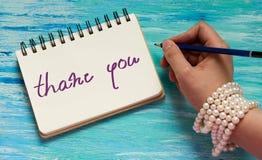 Dziękuje ciebie Inspiracyjnej wycena ręcznie pisany muśnięcie, obyczajowy literowanie obrazy royalty free