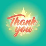 Dziękuje Ciebie jesień spadku dziękczynienia Typograficzny sztandar i liście Obrazy Stock