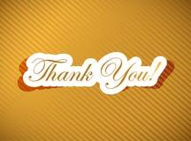 Dziękuje ciebie karcianego nad złotym Obraz Stock
