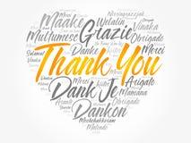 Dziękuje Ciebie Kochać Kierową słowo chmurę Fotografia Stock