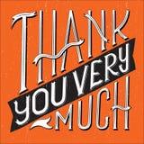 Dziękuje Ciebie Pisać na maszynie kwadrat Fotografia Stock