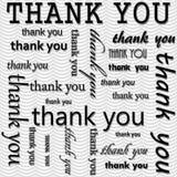 Dziękuje Ciebie Projektować z Szarym i Białym Falistym lampas płytki wzorem R Fotografia Royalty Free