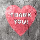 Dziękuje Ciebie słowa Na Betonowej teksturze wektor Zdjęcia Stock