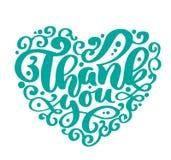 Dziękuje Ciebie tekst kierowa ręcznie pisany inskrypcja Ślubna ręka rysujący wycena literowanie Miłości kaligrafia dziękuję karty royalty ilustracja