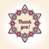 Dziękuje ciebie wewnątrz kwiecista karta Szablon dla poślubiać projekt ilustracji