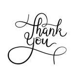 Dziękuje Ciebie wręczać literowanie kartę Nowożytna kaligrafia Zdjęcie Stock