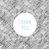 Dziękuje Ciebie Wręczać Rysującą kartę Fotografia Stock