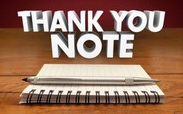 Dziękuje Ciebie Zauważa Pisze Notepad pióra docenieniu Komunikuje ilustracja wektor