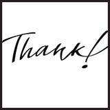 Dziękuje ręki literowanie, kaligrafia Zdjęcie Royalty Free